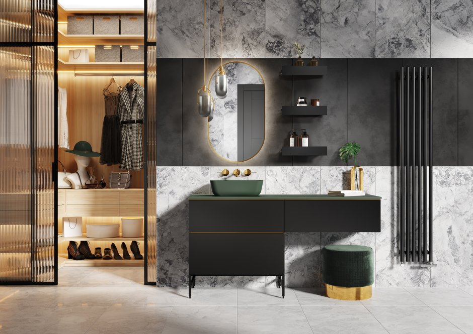 Kolekcja mebli łazienkowych Look Black Mat