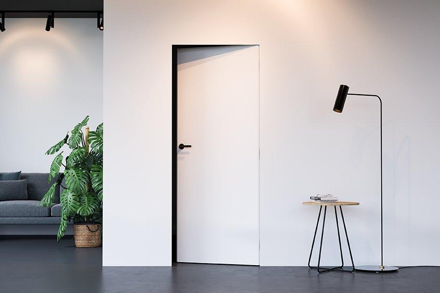 Drzwi do łazienki Porta HIDE białe z ukrytą ościeżnicą