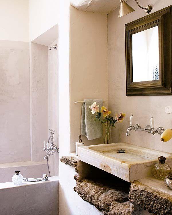 Łazienka w stylu rustykalnym - galeria - Łazienka w stylu ...