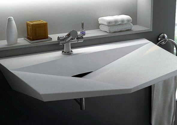 oryginalna umywalka, ciekawy kształt