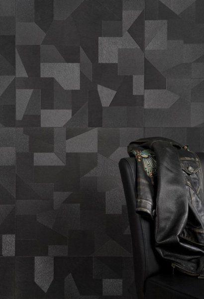 płytki z serii Puzzle negro firmy Bestile Ceramicas