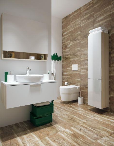 gres szkliwiony Cersanit Brosto w łazience