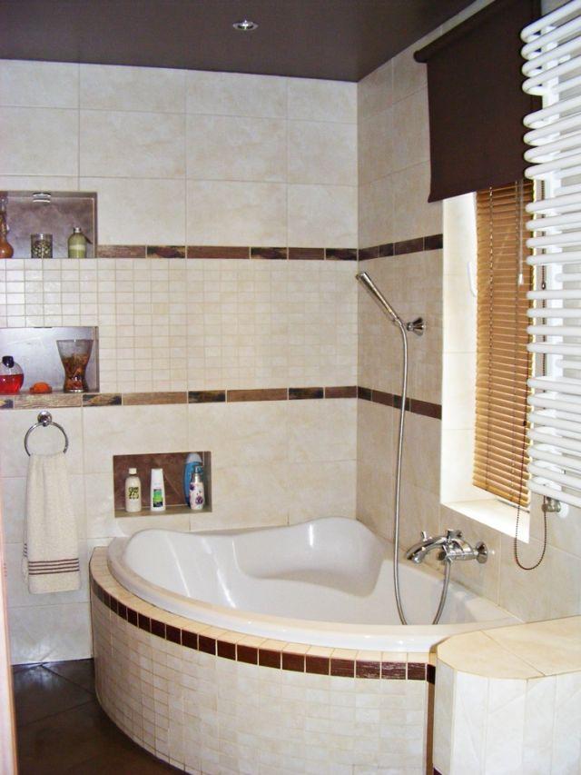 anetamaz - galeria - aranżacja łazienki z wanną narożną z siedziskiem - Łazienkowe inspiracje ...