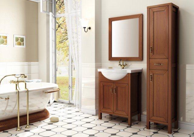 Meble łazienkowe z w stylu retro z kolekcji SANTOS