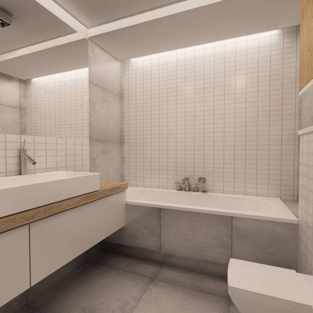 łazienka z betonem