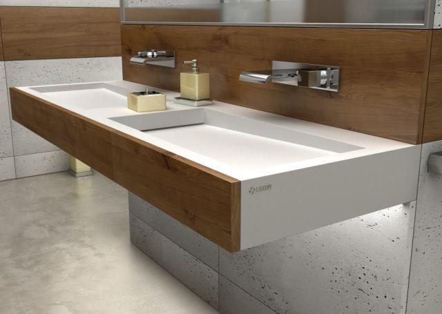podwójna umywalka na wymiar Luxum
