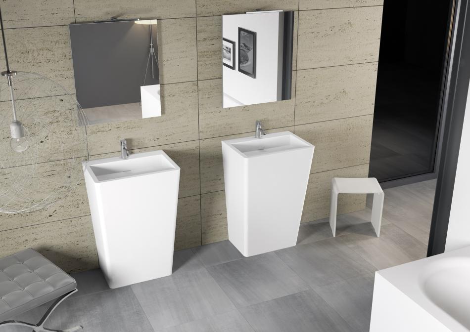 DIJON - umywalka stojąca z serii Solid Surface