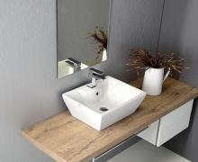 Umywalka ceramiczna nablatowa QUADRO PLUS marki Alice Ceramica