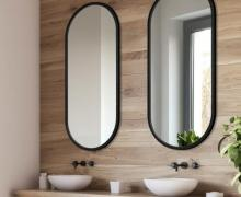 Lustro łazienkowe Ambient czarne GieraDesign