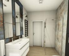Projekt łazienki wykonany w programie PaletteCAD