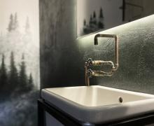 Industrialny mebel pod umywalkę