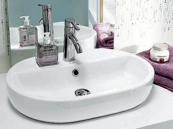 Cersanit - umywalka nablatowa Caspia Oval 60