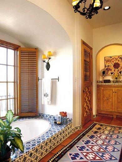 Łazienka w stylu meksykańskim