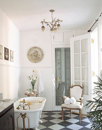 Azienka w stylu angielskim style w azience for Bathroom ideas 1920s home
