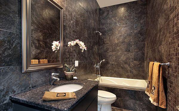 Arnażacja łazienki - granit