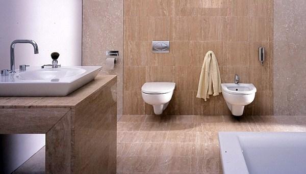 Aranżacja łazienki - trawertyn