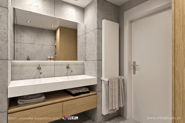 łazienka W Surowym Klimacie Beton W łazience Podłogi I