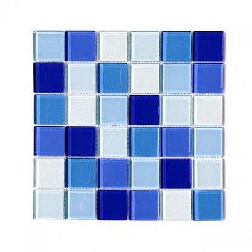 Mozaika szklana niebieska