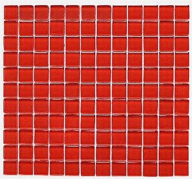 Mozaika szklana czerwona