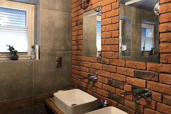 Cegła W łazience Podłogi I ściany Wszystko O łazienkach