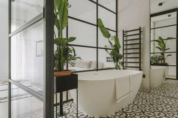 Łazienka jak dżungla - styl botaniczny