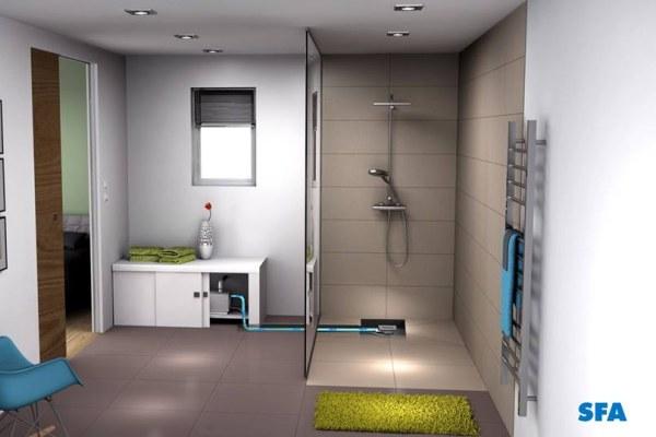 Instalacja prysznica w dowolnym miejscu - SANIFLOOR