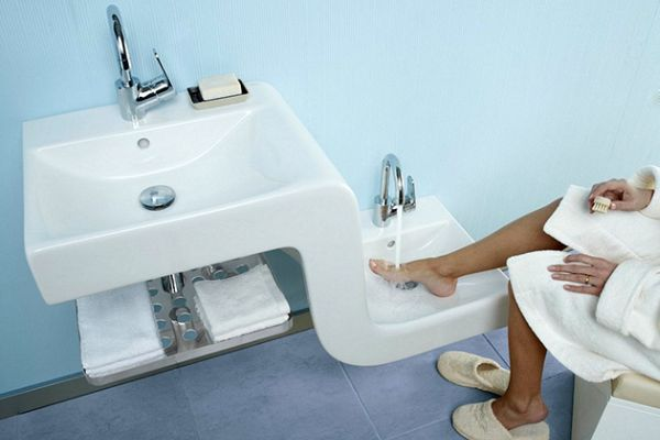 lavabi moderni x bagni : Picture idea 6 : Umywalka rodzinna od vitra design ze wiata lazienkowy ...