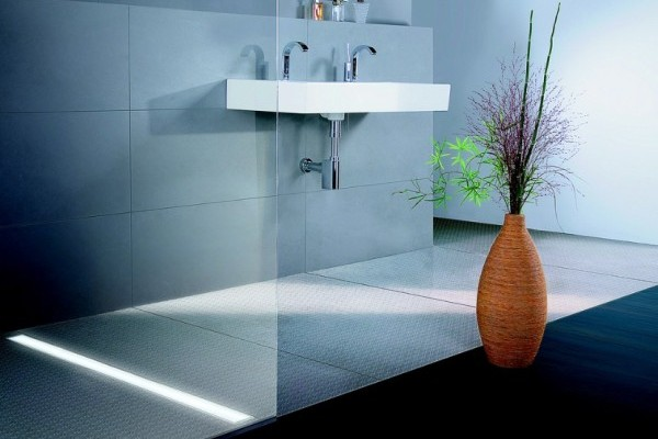 Kessel - wpusty, odpływy prysznicowe, liniowy podświetlany