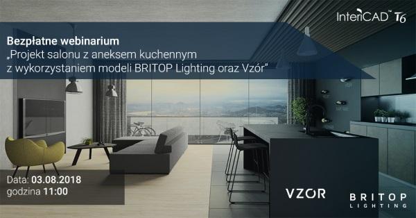 Webinarium - Projekt salonu z aneksem kuchennym z wykorzystaniem modeli BRITOP Lighting oraz Vzór