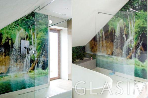 Wspaniały Szkło sposobem na efektowną aranżację łazienki - płytki ceramiczne RL94
