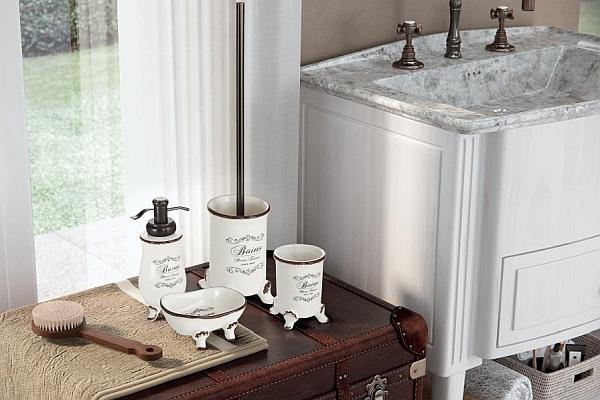 Akcesoria łazienkowe w stylu retro