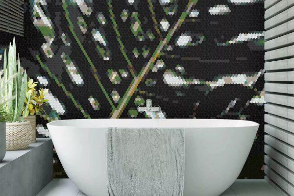 Mozaika projektowana przez artystów