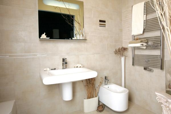łazienka W Odcieniach Beżu I Brązu Boksy Ferro