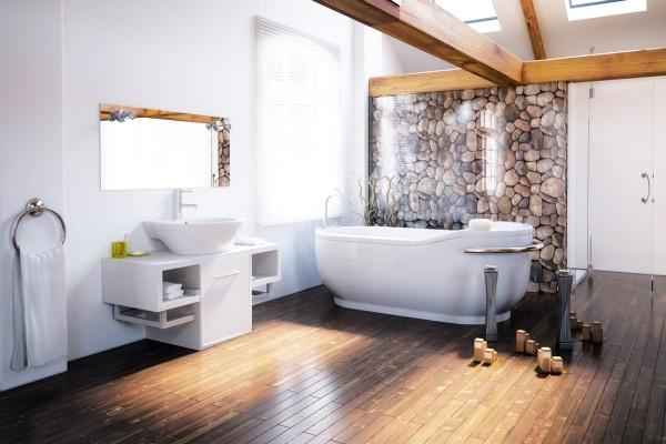 fototapeta na szkle w azience trendy w azience. Black Bedroom Furniture Sets. Home Design Ideas