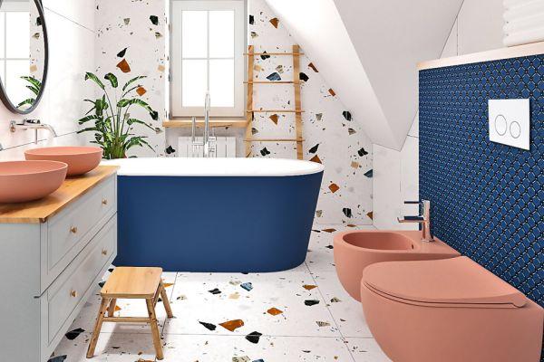 Kolorowa łazienka dla małych odkrywców i ich rodziców