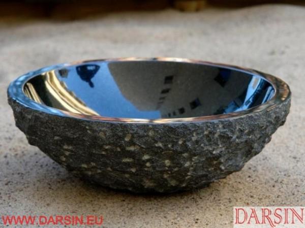 Darsin - umywalka kamienna, granit Absolute Black