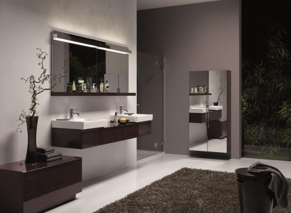 KOŁO - aranżacja łazienki z meblami i umywalką z serii iCon