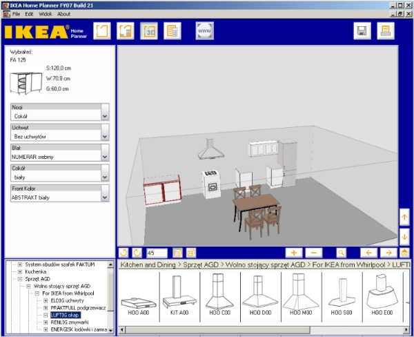 Program do projektowania kuchni Ikea Kitchen Planner