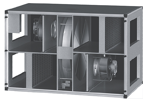 Ekoklimax - Projekt - centrala wentylacyjna z odzyskiem ciepła RO-12000-KEC