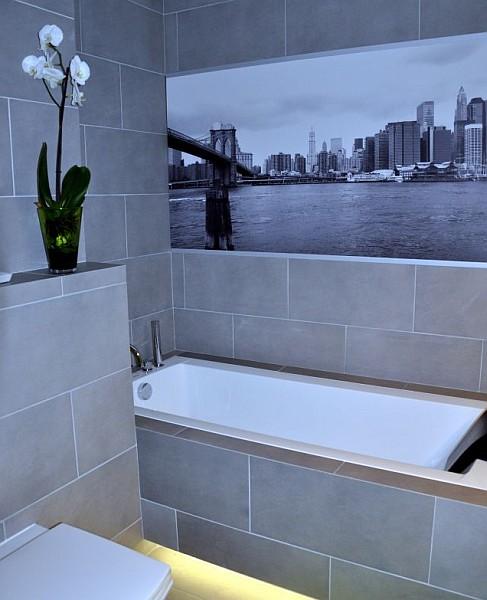 fototapeta na ścianę w łazience nad wanną