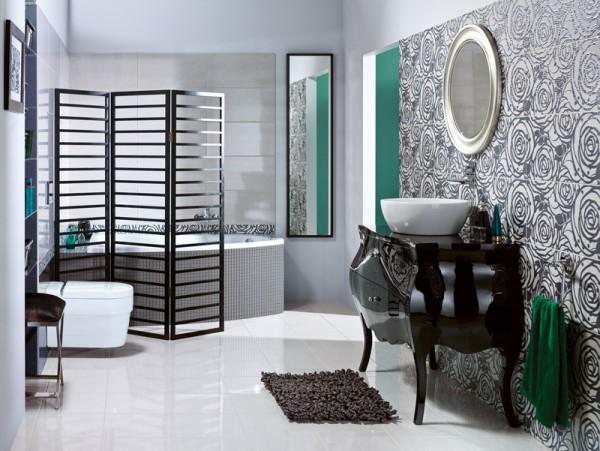 Cersanit - aranżacja łazienki z płytkami łazienkowymi z kolekcji Modena