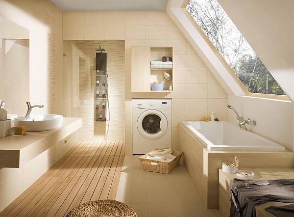 Opoczno - aranżacja łazienki z płytkami łazienkowymi z kolekcji Tanaka