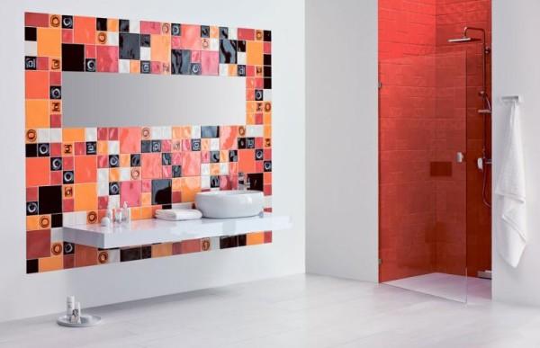 Ceramika Paradyż - aranżacja łazienki z płytkami łazienkowymi z kolekcji Reflette