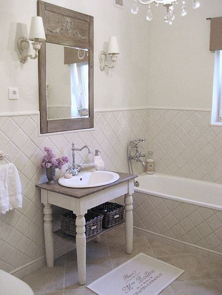 Łazienka w stylu provansalskim