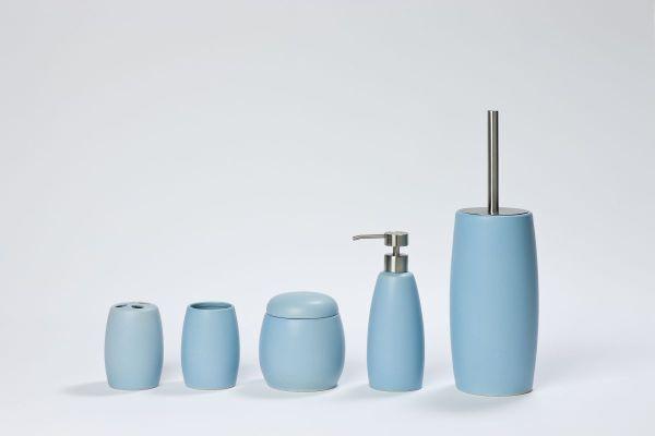 Coram - niebieskie dodatki łazienkowe Coloris