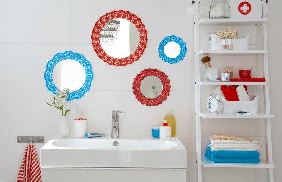 koronkowe lustro łazienkowe tesa tape