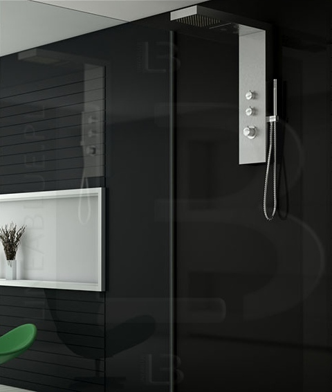 Nowoczesny panel prysznicowy Axiss Glass Lineablue