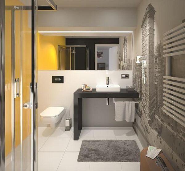 Umywalka meblowa Traffic KOŁO zamontowana na blacie łazienkowym