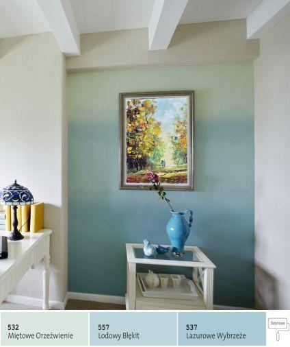 Cieniowanie ścian - styl ombre we wnętrzach