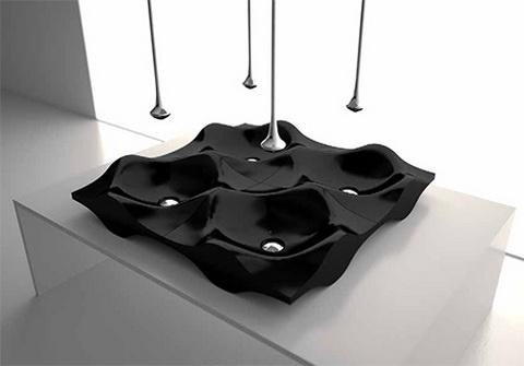 czarna umywalka Luxum